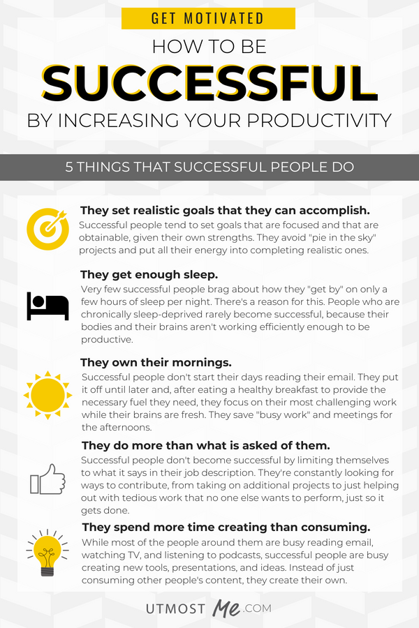 5 Things That Successful People Do To Boost Productivity