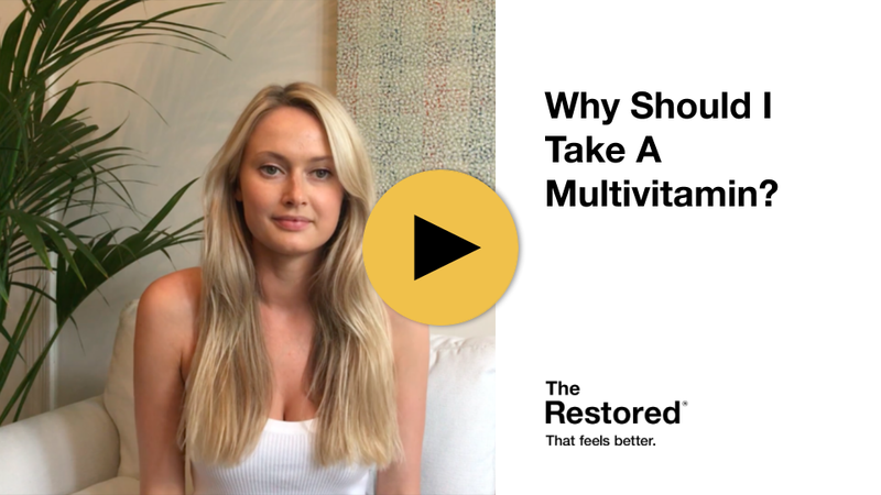 Play Video - The Restored's Resident Nutritional Expert, Alex, Explains The Benefits Of Taking A Complete Multivitamin