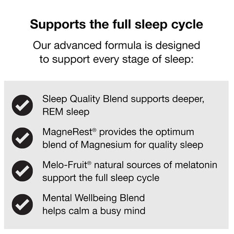 Supports the full sleep cycle