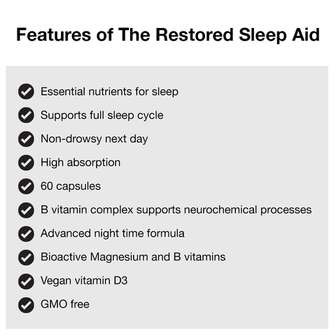 Features of The Restored Advanced Night-Time Sleep Aid