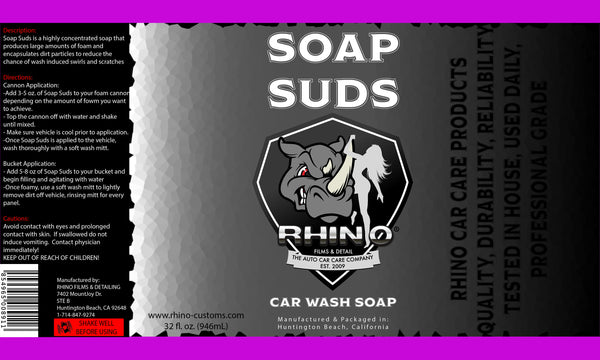 RHINO Soap Suds - Car Wash Soap 32fl. oz.