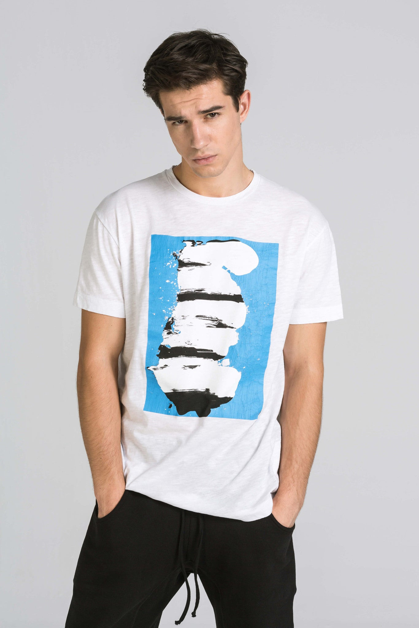 ONE BLUE WHITE TEE