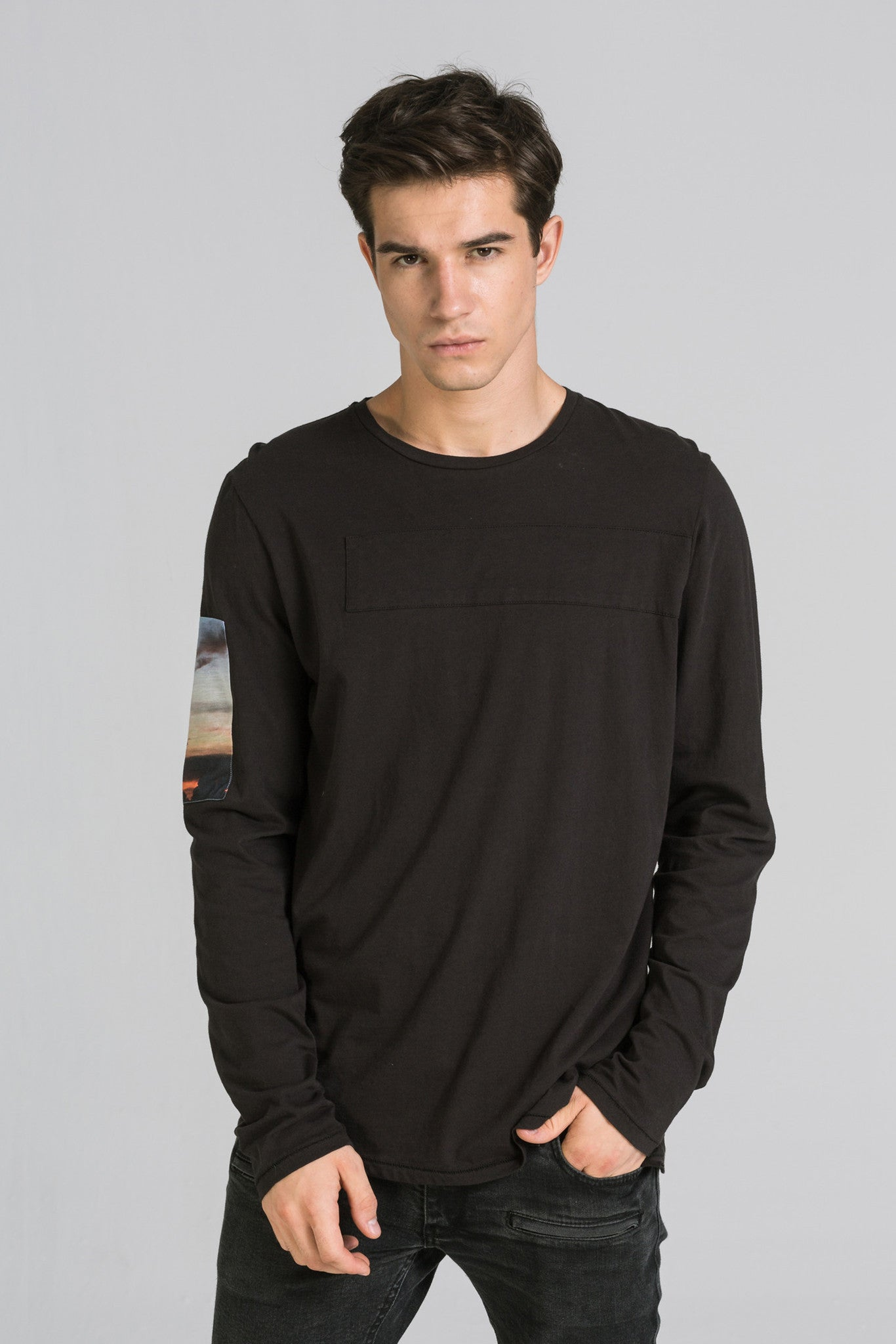 FLY LS BLACK TEE