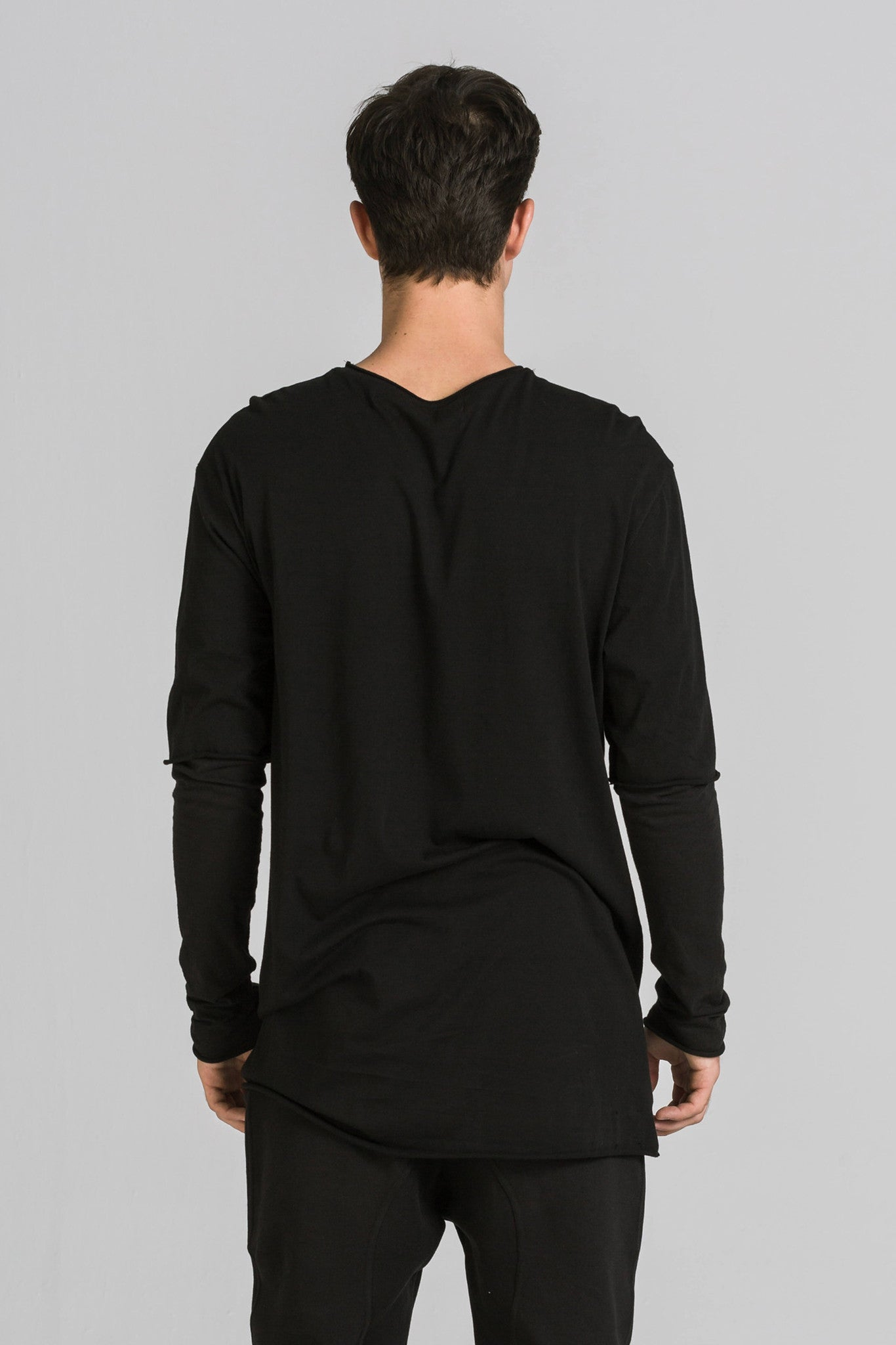 SURFACE DUO LS BLACK TEE