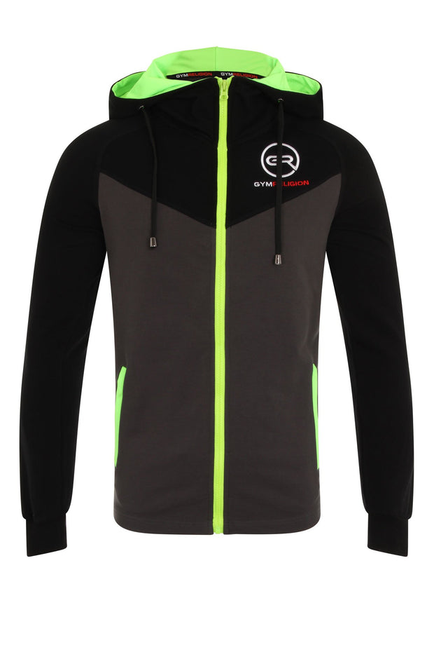Urban Range Black, Grey & Neon Jacket