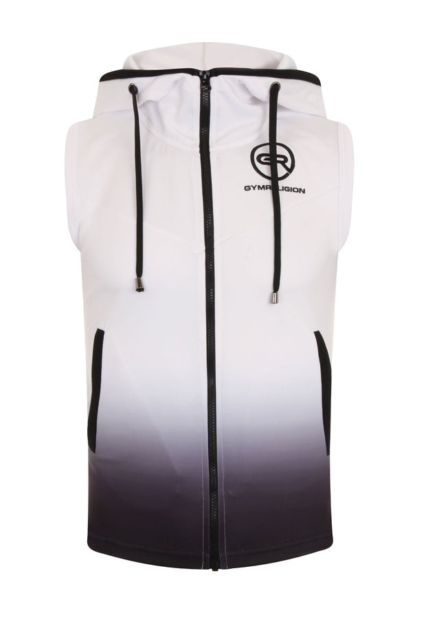 Urban Range White/Black Gradient Sleeveless Jacket