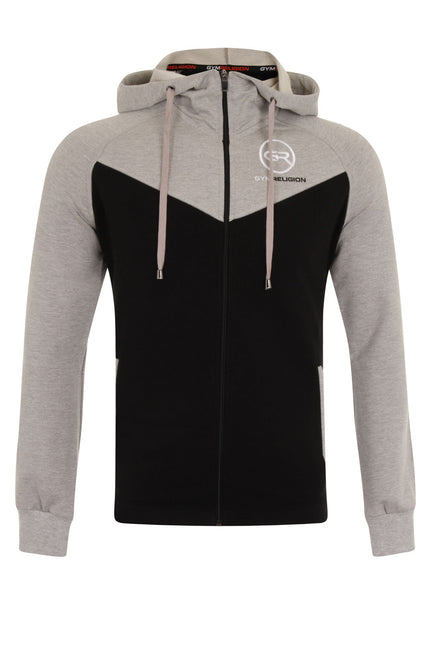 Signature Core Range Zip Hoodie - Grey & Black