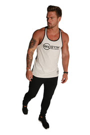 Signature Core Range Stringer Vest - White & Black