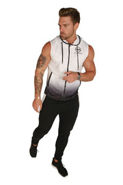 Urban Range Gradient Sleeveless Jacket - White/Black