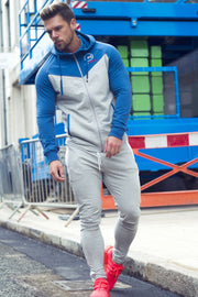 Signature Core Range Zip Hoodie - Blue & Grey