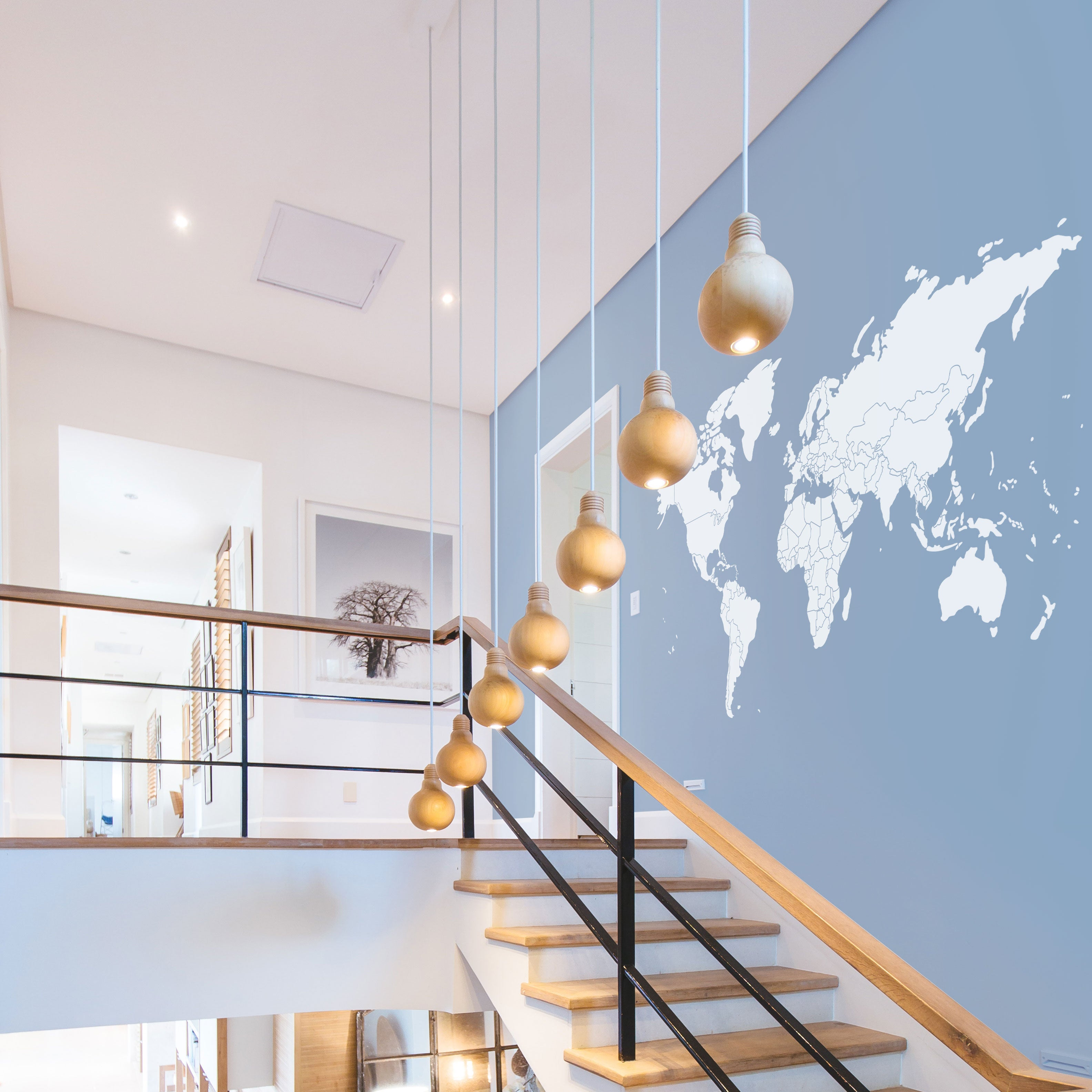 World Map Silhouette W Borders Vinyl Wall Decal Conquest Maps Llc