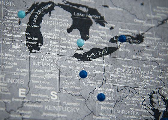 USA Travel Map Pin Board wPush Pins Modern Slate Conquest Maps – Push Pin Travel Maps