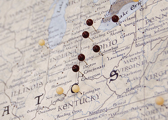 USA Travel Map Pin Board wPush Pins Rustic Vintage Conquest Maps – Usa Travel Map With States