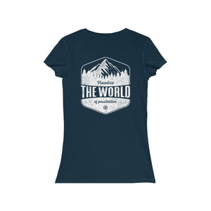 Navy Conquest Maps Visualize the World of Possibilities women's Tee