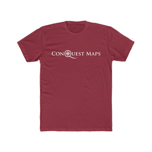 Solid scarlet Conquest Maps Visualize the World of Possibilities Men's Tee