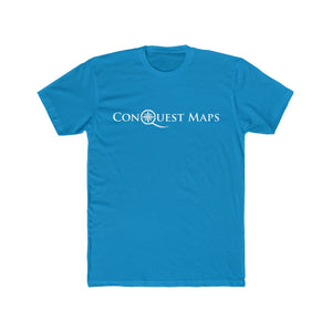 Solid turquoise Conquest Maps Visualize the World of Possibilities Men's Tee