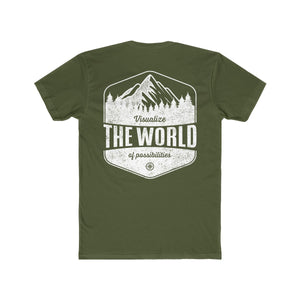 Solid Military Green Conquest Maps Visualize the World of Possibilities Men's Tee
