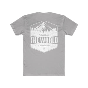 Solid light grey Conquest Maps Visualize the World of Possibilities Men's Tee