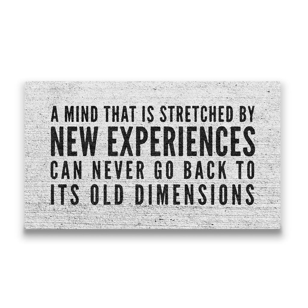 A mind that is stretched Travel quote Canvas Art Thumbnail