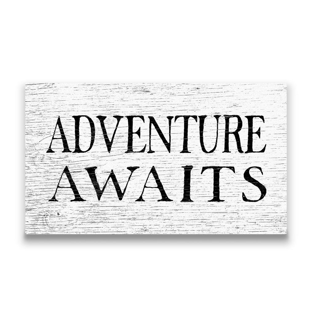 Adventure Awaits Travel quote Canvas Art Thumbnail