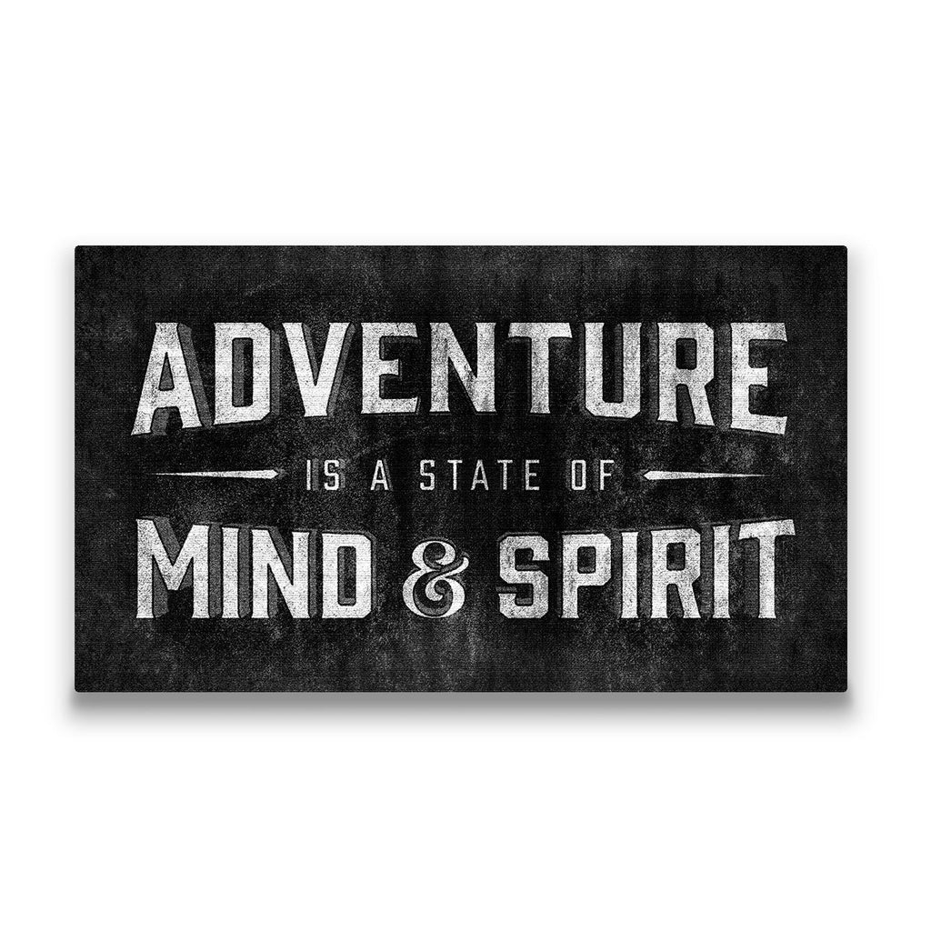 Adventure is a state of mind Travel quote Canvas Art Thumbnail