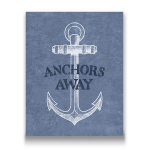 Anchors Away Travel quote Canvas Art Thumbnail