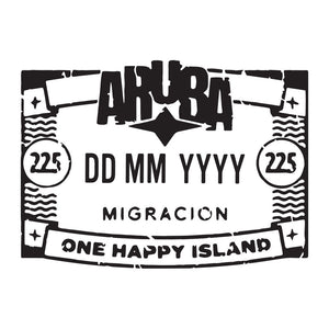 Passport Stamp Decal - Aruba