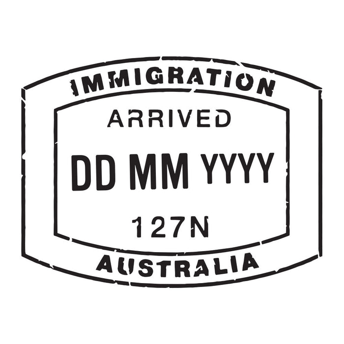 Passport Stamp Decal - Australia