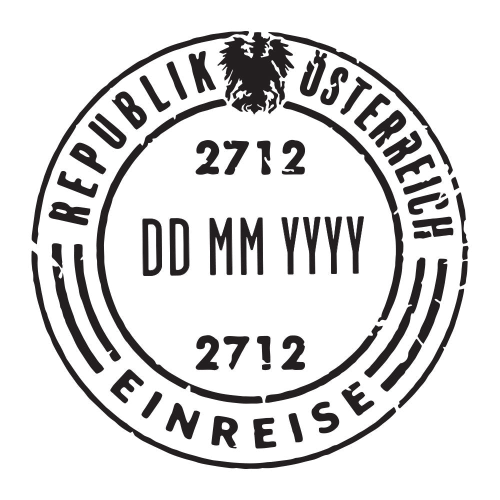 Passport Stamp Decal - Austria