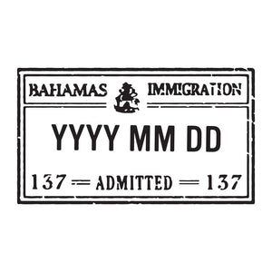 Passport Stamp Decal - Bahamas