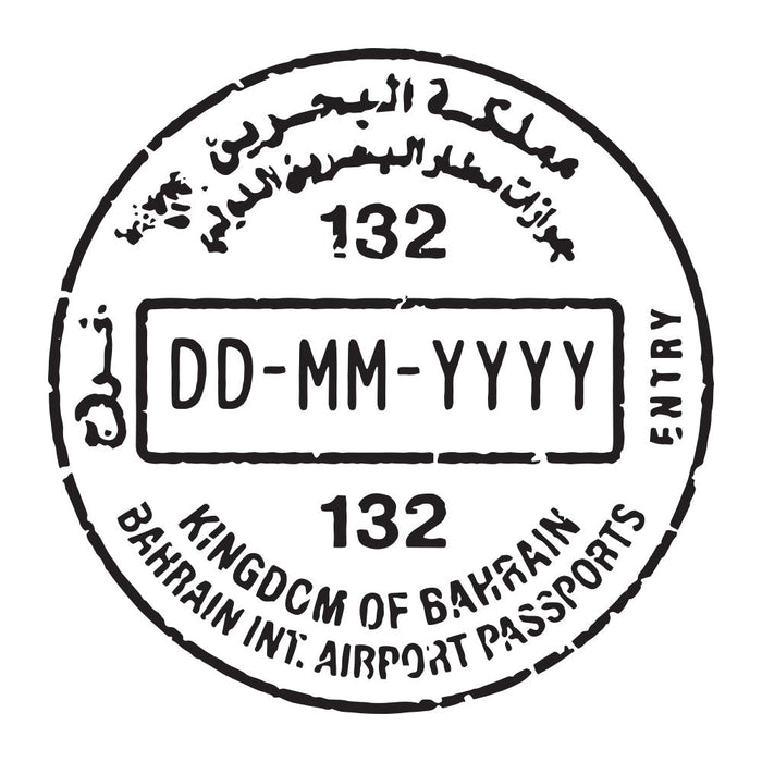 Passport Stamp Decal - Bahrain