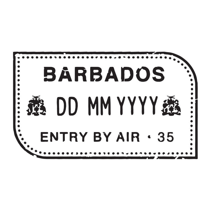 Passport Stamp Decal - Barbados