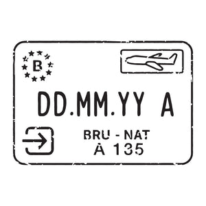 Passport Stamp Decal - Belgium