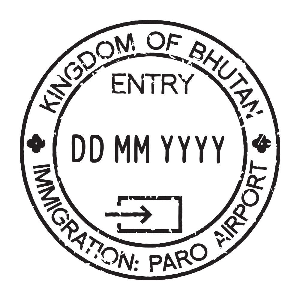 Passport Stamp Decal - Bhutan