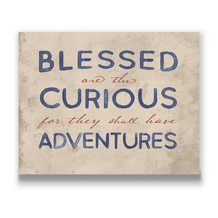 Blessed Are The Curious - Canvas Wall Art