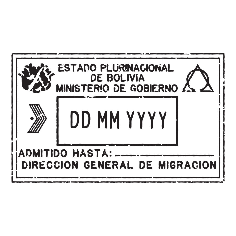 Passport Stamp Decal - Bolivia