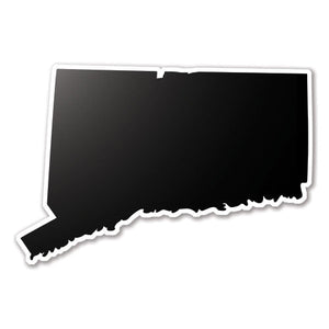 Black Conneticut State Vinyl Silhouette Car Decal