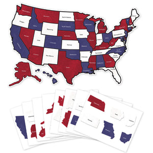 Red White and Blue US Camper Decal