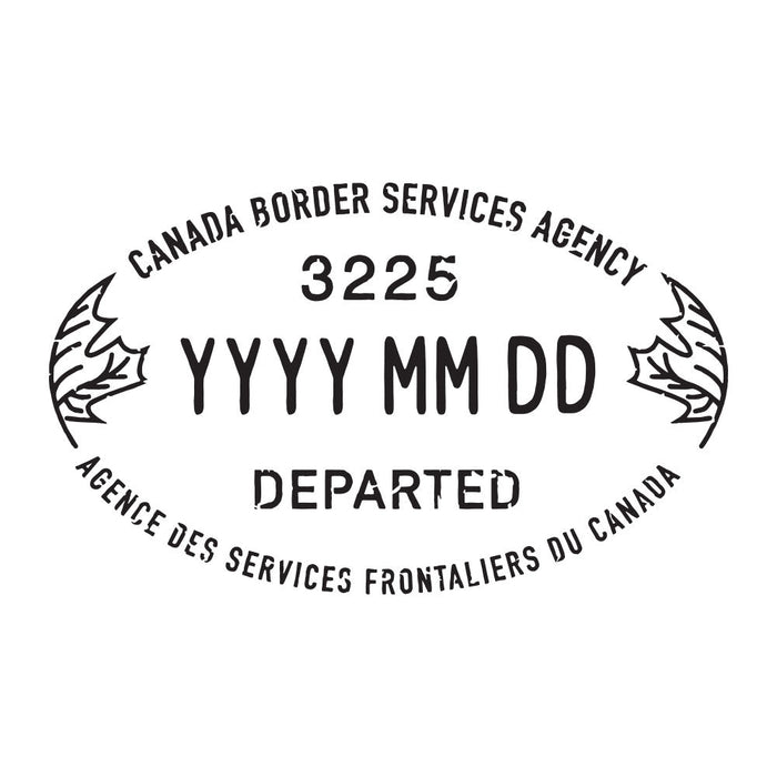 Passport Stamp Decal - Canada