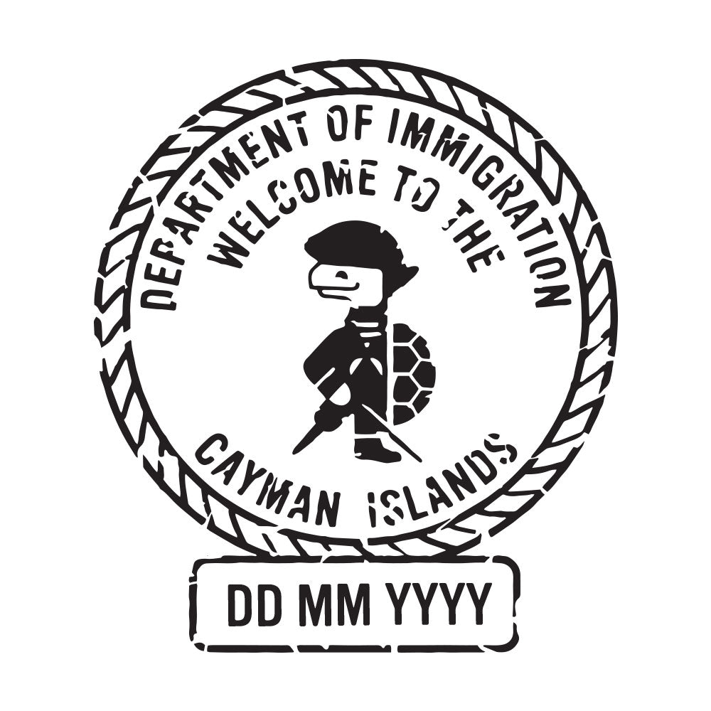 Passport Stamp Decal - Cayman Islands