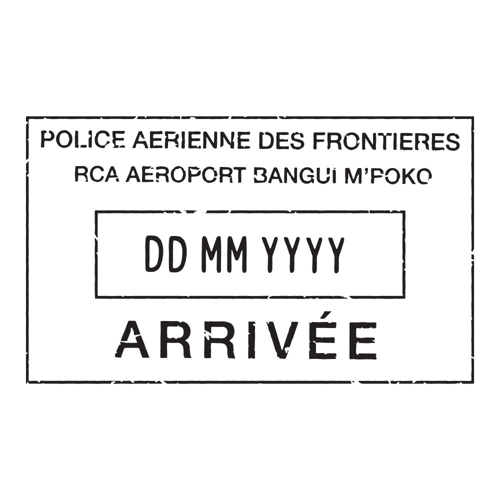 Passport Stamp Decal - Central African Republic
