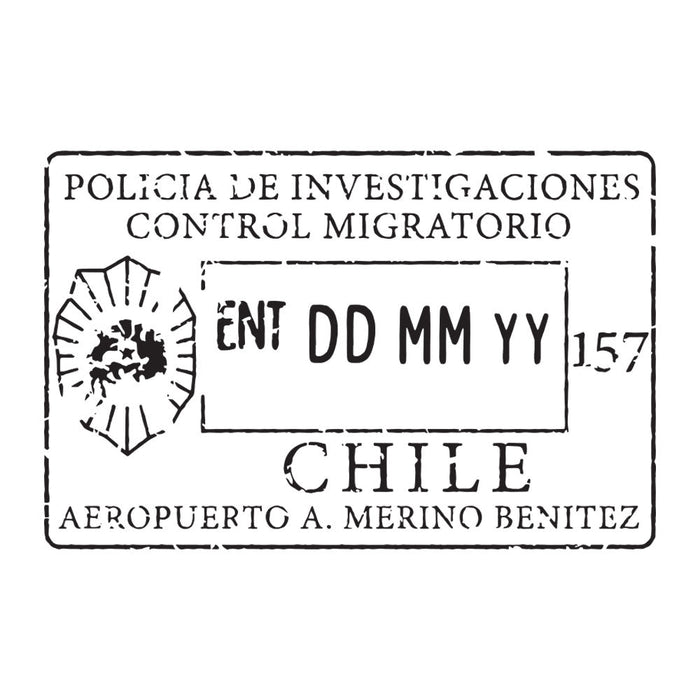 Passport Stamp Decal - Chile