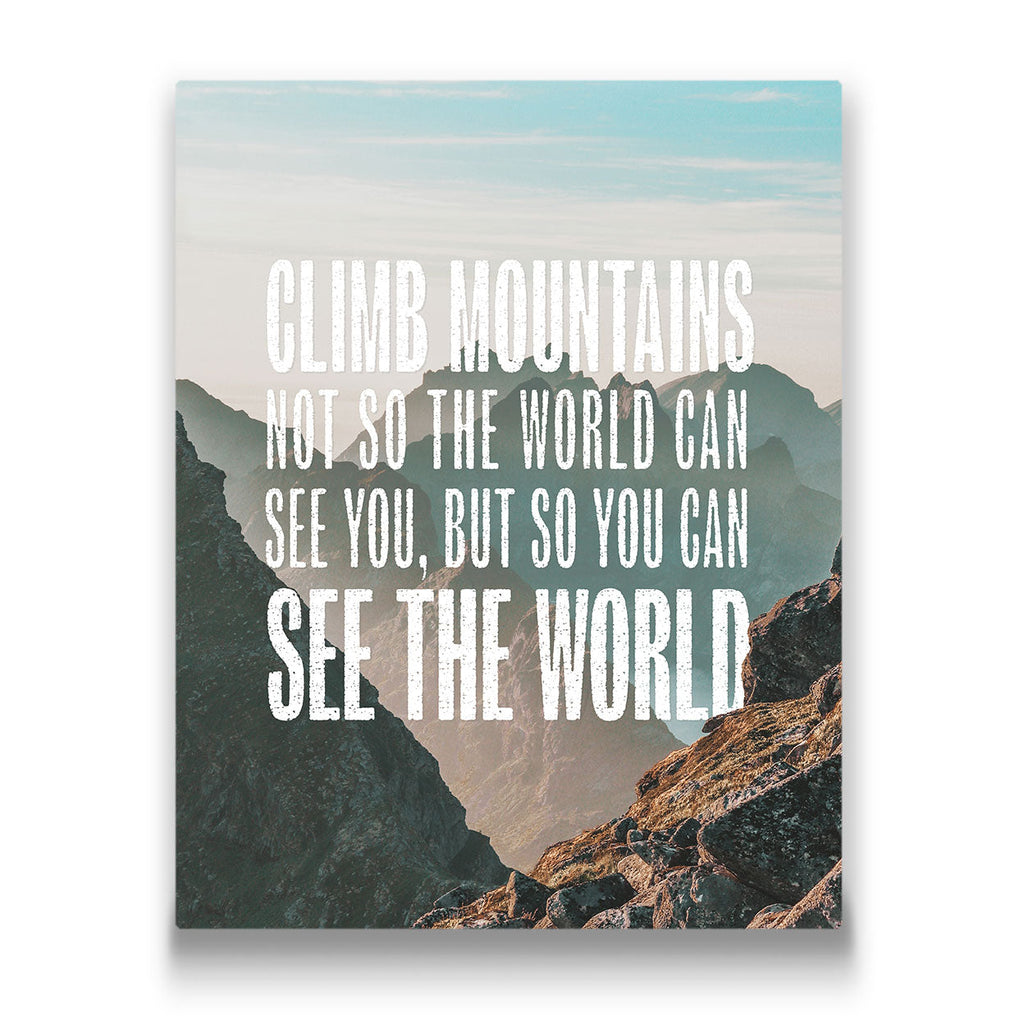 Climb Mountains Travel quote Canvas Art Thumbnail