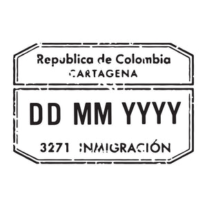 Passport Stamp Decal - Colombia