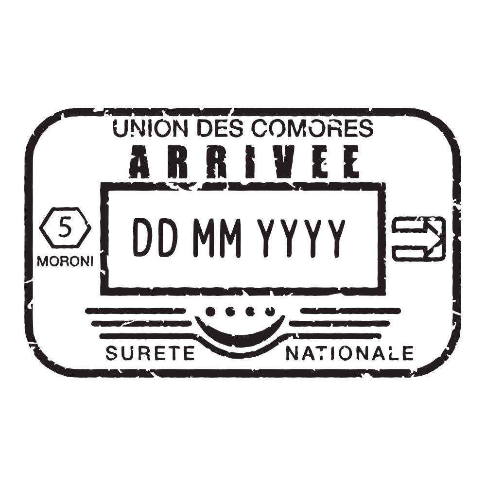 Passport Stamp Decal - Comoros