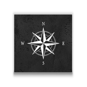 Compass Rose Travel quote Canvas Art Thumbnail