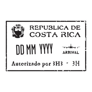 Passport Stamp Decal - Costa Rica