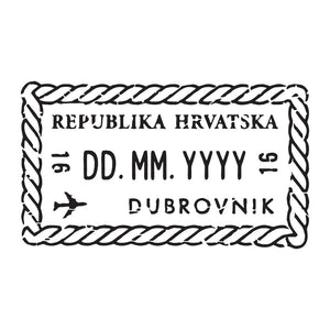 Passport Stamp Decal - Croatia