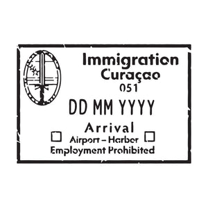 Passport Stamp Decal - Curaçao