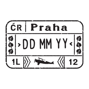 Passport Stamp Decal - Czech Republic